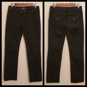 Simply Vera Wang Sz 2 Black Straight Jeans
